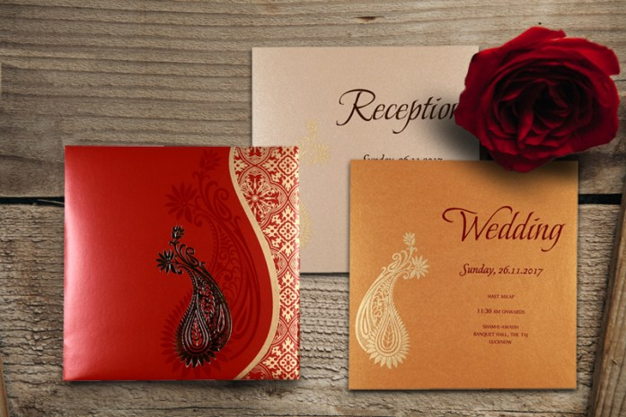 Red wedding cards-CD-1742
