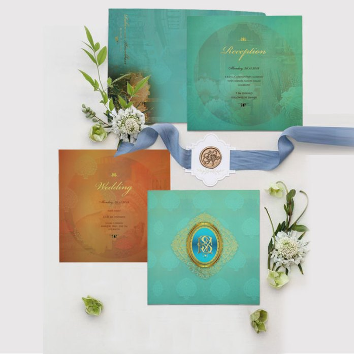 MATTE FLORAL THEMED INVITATIONS CD-1822