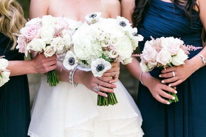 blue bridal wedding bouquet