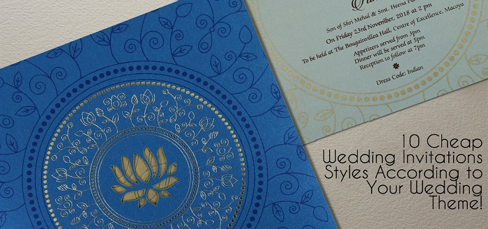10 Cheap Wedding Invitations Styles According to Your Wedding Theme!