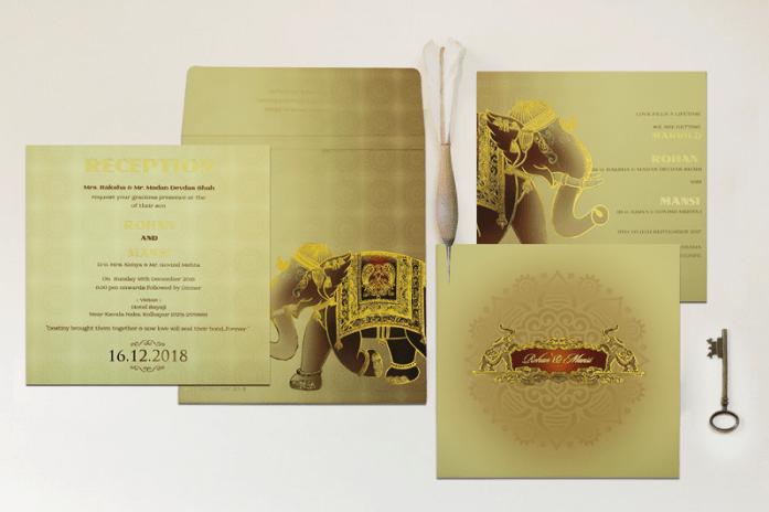 Modern Indian Wedding Invitations CD-1823
