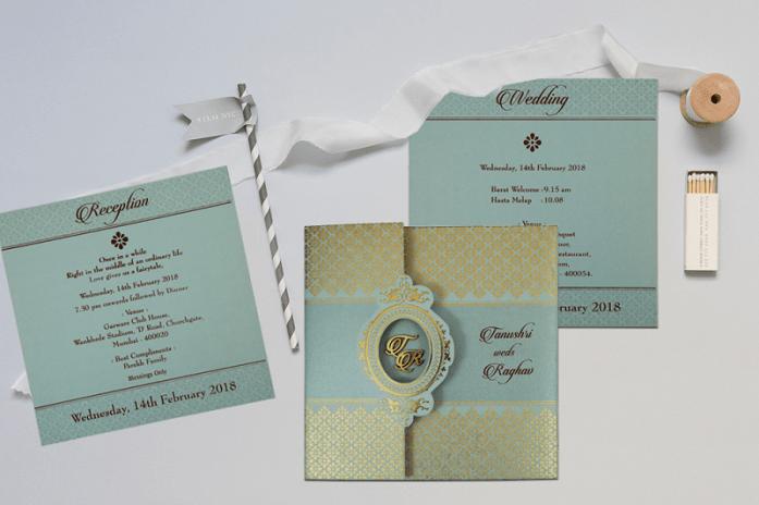Off-white designer wedding invitationsCD-1801