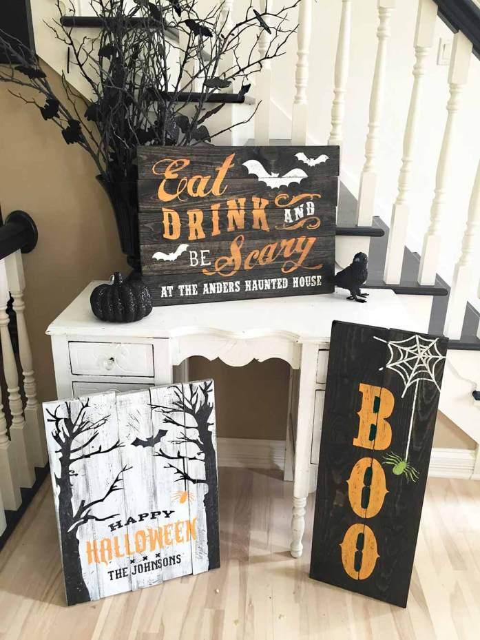 Halloween Wedding Sign Board