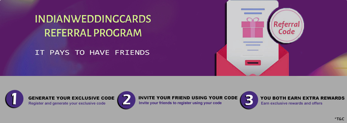 Refer & Earn - IndianWeddingCards