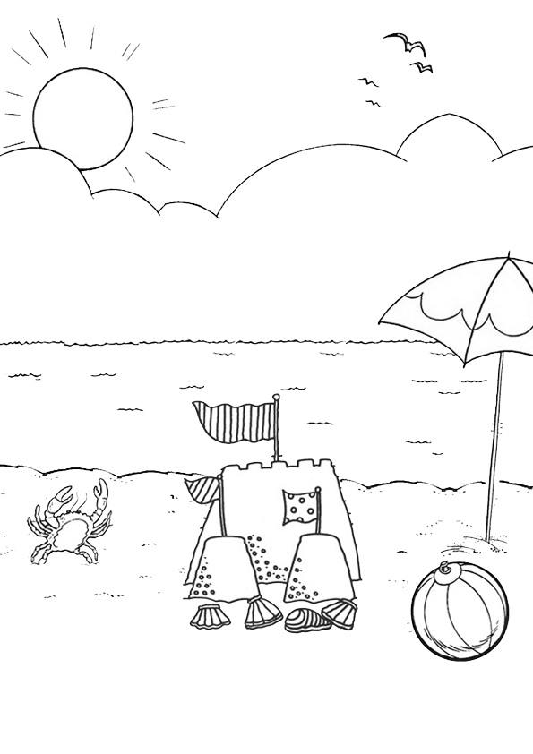 Coloring Pages Beach Coloring Pages