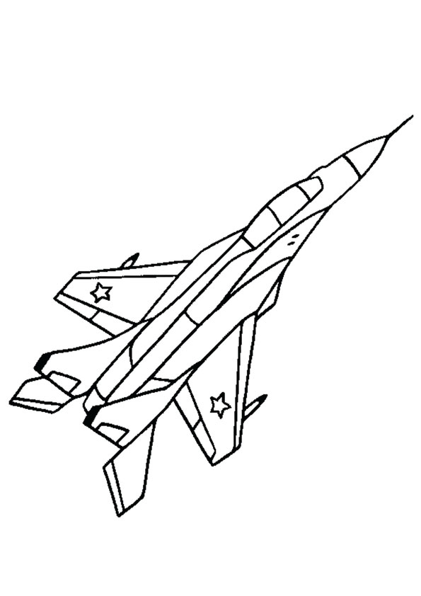 Coloring Pages Fighter Plane Coloring Page