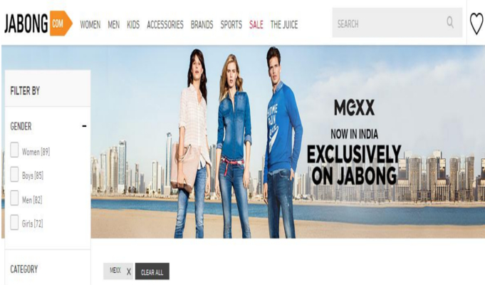 Jabong partners with international fashion retailer Mexx