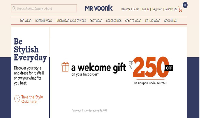 Mr Voonik to solve shopping problems for men