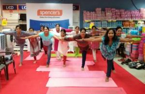 Spencer's celebrates International Day of Yoga