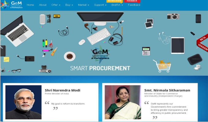 Government launches online website GeM for bureaucrats to buy office stuff