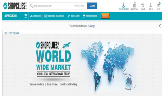 ShopClues launches worldwide market