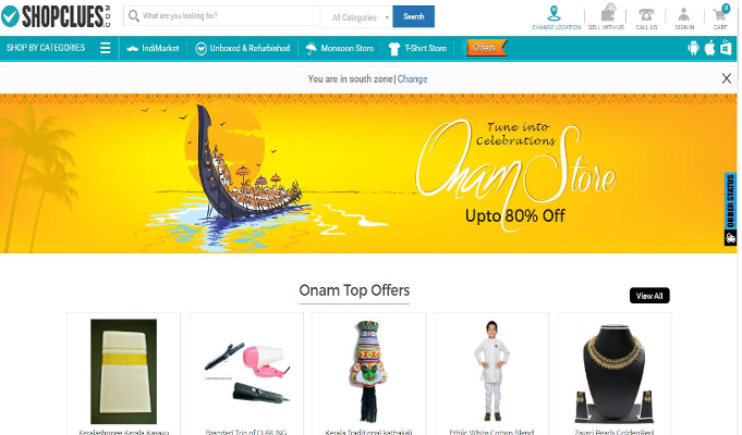 ShopClues launches its Onam Store to add to the festive jubilation