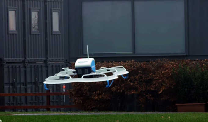 Amazon makes first drone delivery to England farmhouse