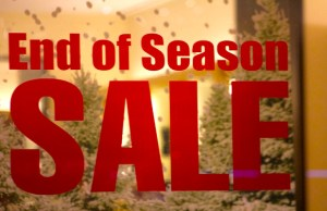 Is the End Of Season Sale coming to an end?
