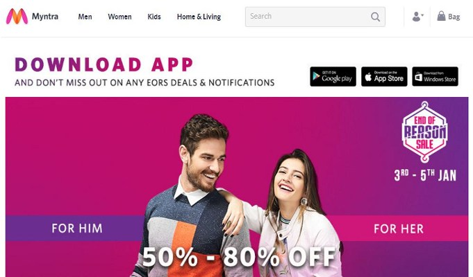 Myntra records 160 pc growth in revenues during 5th edition of EORS
