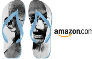 Action against Amazon for selling tricolor doormats, Gandhi flip flops