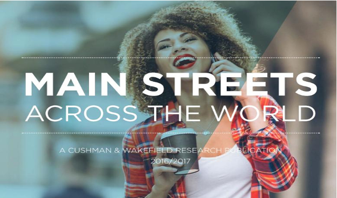 Main retail streets across the World 2016-17 - Cushman & Wakefield