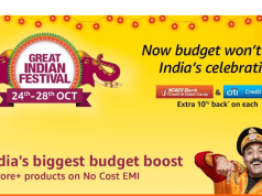 Amazon.in has announced the return of its biggest festive celebration 'Great Indian Festival'. Wave 2 of the 'Great Indian Festival' will start at 12 midnight on October 24, 2018 and end at 11:59 pm on October 28, 2018.