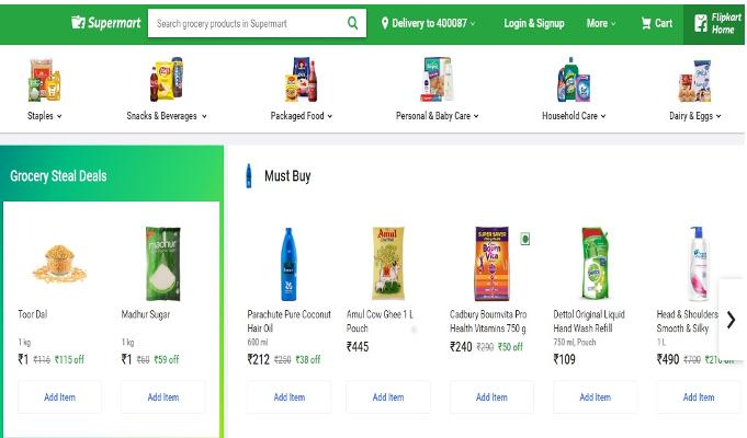 Flipkart launches online grocery store 'Supermart' in Mumbai