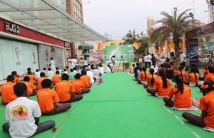 MGB Felicity Mall celebrates Yoga Day