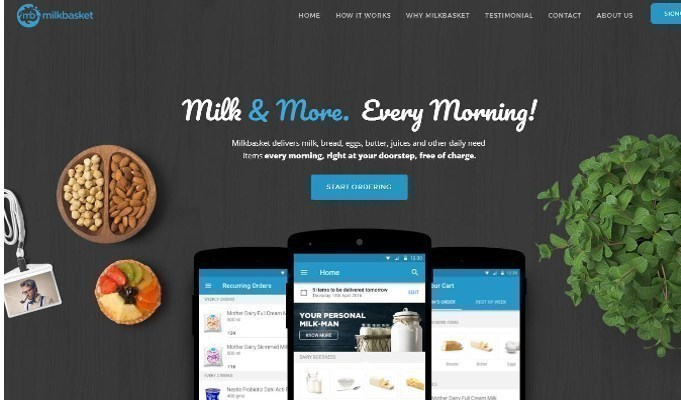 Milkbasket forays into in-hand delivery service