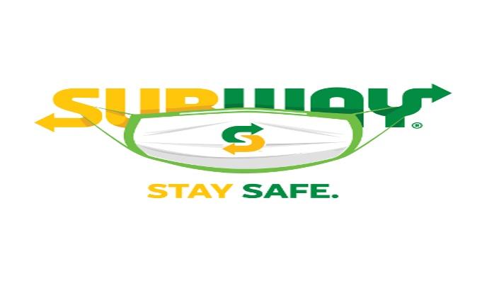SubwayIndia logo wears a mask to raise awareness for safety