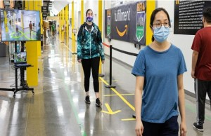 Amazon introduces AI enabled tech to ensure social disAmazon introduces AI enabled tech to ensure social distancing at warehousestancing at warehouses