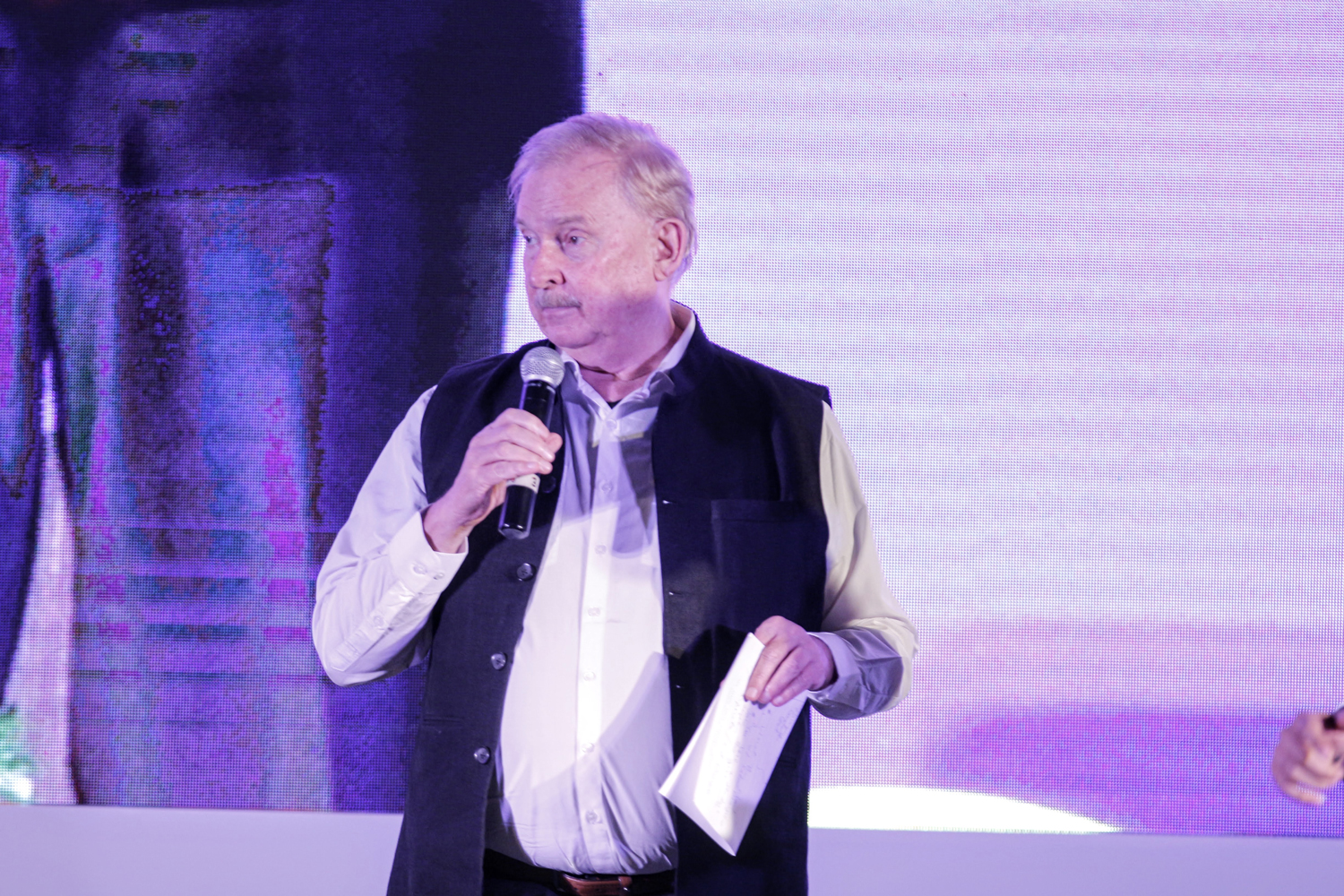 Prof. Christopher Charles Benninger, of CCBA, roasts Anubhav Gupta, the chief design officer at Godrej Properties.