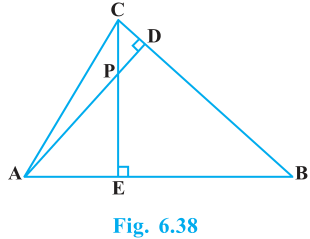 Triangles Exercise 6.3 Question No. 7
