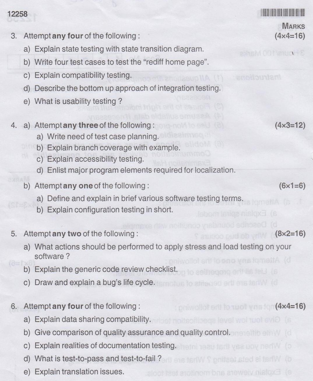 Maharashtra State Board Of Technical Education Msbte Question Paper For Diploma In Computer