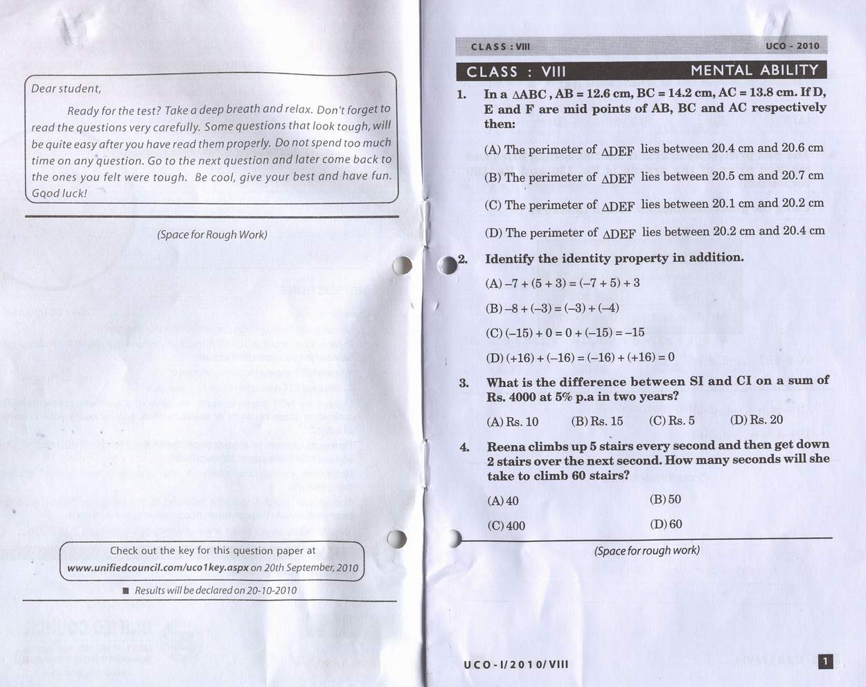 English Olympiad Question Papers For Class 2