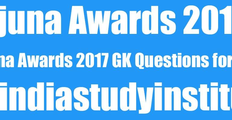 Arjuna Awards 2017