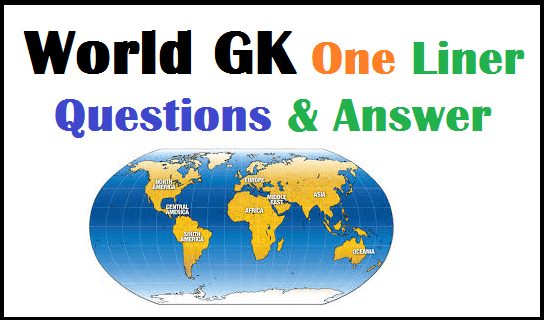World Top 50 GK Questions Hindi GK Study Materials Download PDF File. Top 50 Important World GK Questions Answers Download PDF at here.