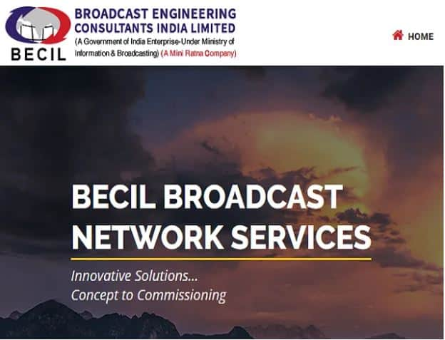 Broadcast Engineering Consultants India Limited (BECIL) Recruitment 2021