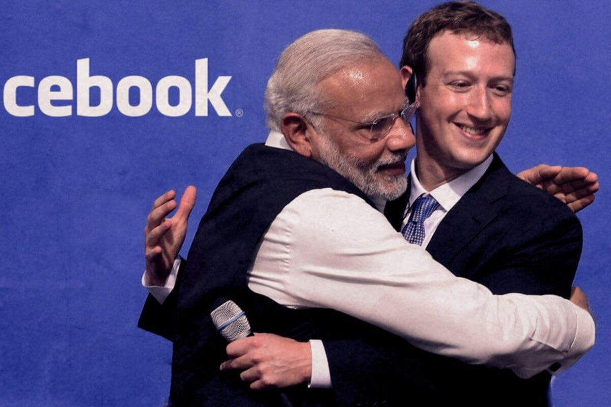 Facebook CEO with Modi
