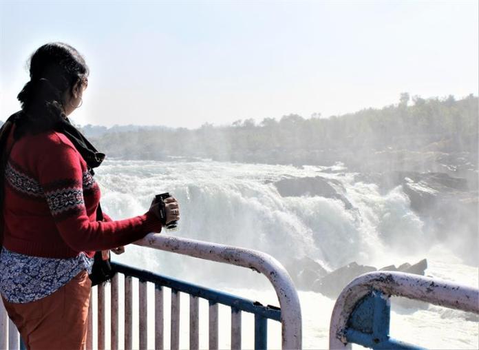 At Dhuandhar Falls