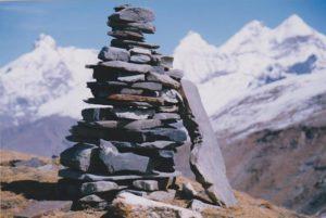 placing stones