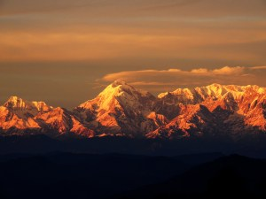 Sunset in Himalayas