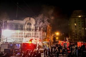 Saudi embassy attacked