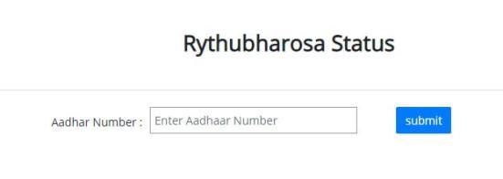 payment status rythu bharosa