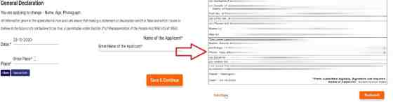 voter card correction online process step4