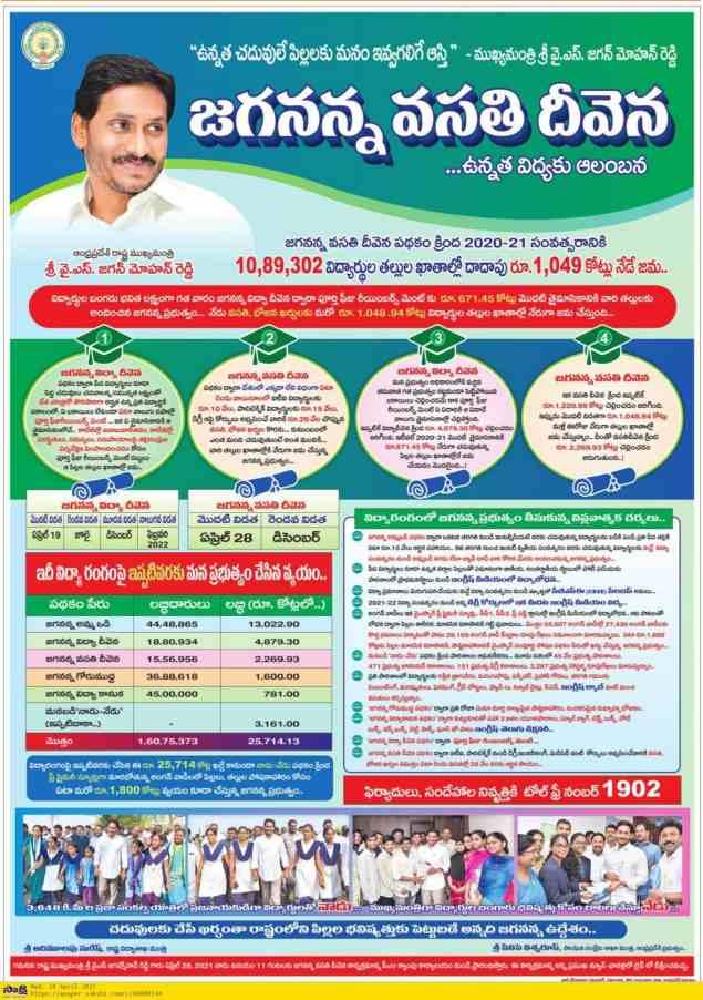 Jagananna Vasathi Deevena Scheme Amount News
