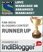 Sony Entertainment Television - IndiBlogger Contest Runner-up