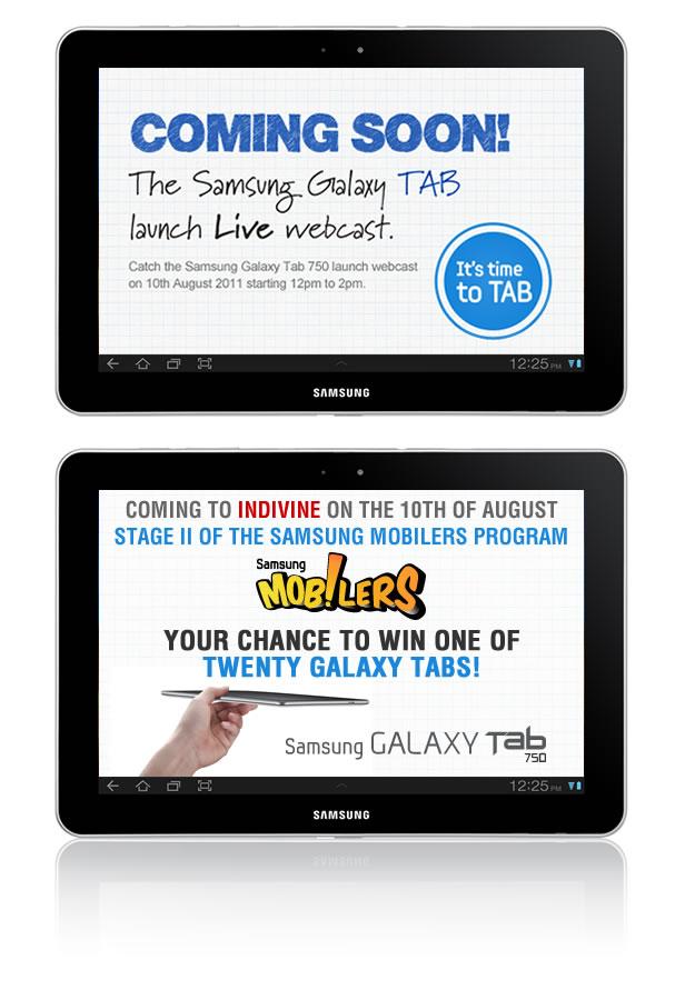 Samsung Galaxy Tab 750 Launch