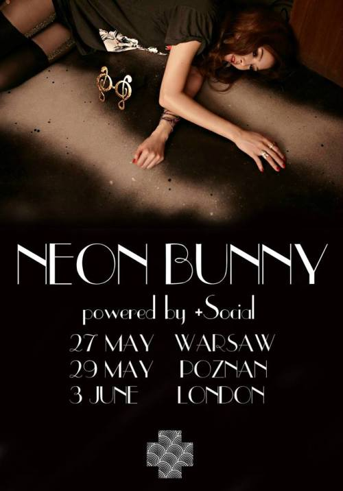Poster for Neon Bunny's 2017 Europe tour