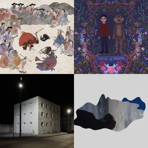 Album covers from PAKK (Salpuri), Flash Flood Darlings (Fewchie Vs. Wolflove), Car, the garden (APARTMENT), Kang Taegu (bleu)