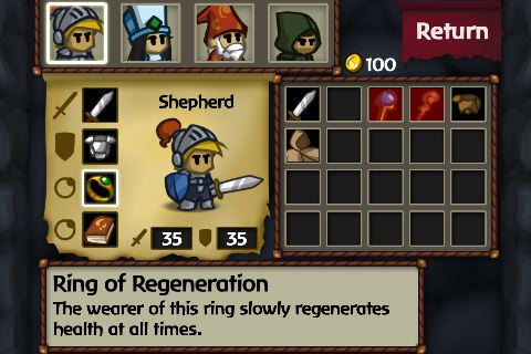 Battleheart game review for iOS - screenshot 6