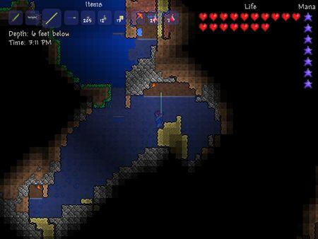 Terraria - the watery depths
