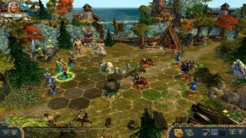 kings bounty warriors of the north -hexagonal combat screenshot