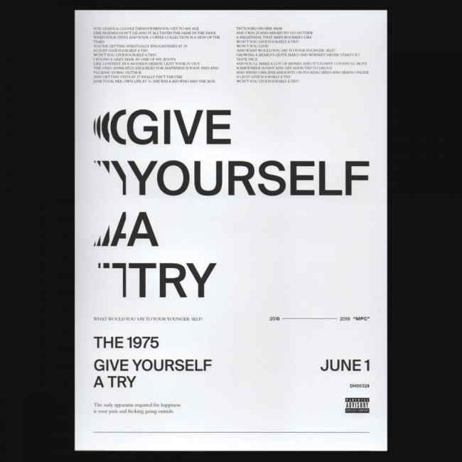 the 1975 give yourself a try poster
